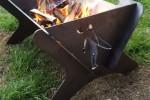 Flat pack BBQ flames
